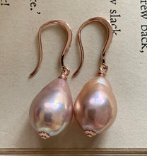 Load image into Gallery viewer, Pretty Pink Edison Pearls Rose Gold Earrings