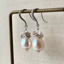 Load image into Gallery viewer, AAA Cream Pearls with Gemstones 925 Silver Pearls