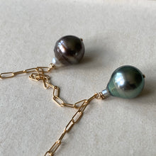 Load image into Gallery viewer, OOAK AA Circle Tahitian Pearl Trio 14kGF Necklace
