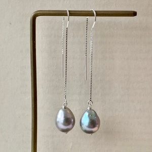 Silver Baroque Pearls 925 Silver Threaders