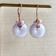 Load image into Gallery viewer, Type A Lilac Lavender Signature Earrings 14kRGF