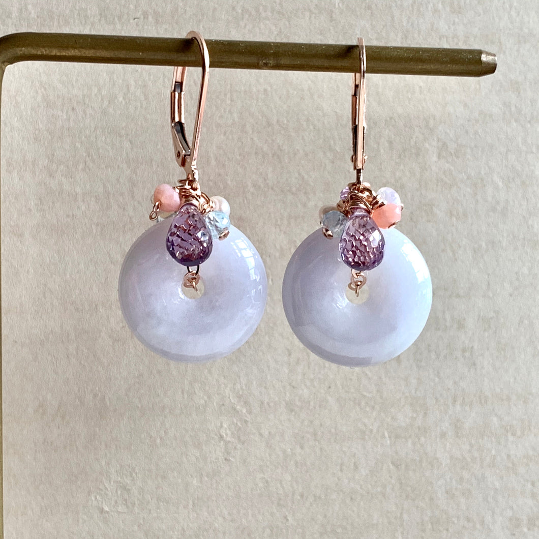 Type A Lilac Lavender Signature Earrings 14kRGF