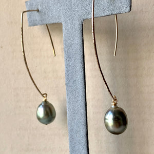 AAA Large Edison Pearls (Hand Forged) 14kGF Earrings