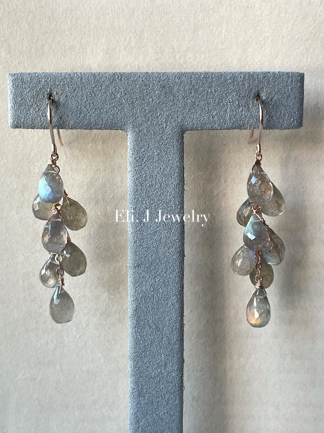 Summer 2: Labradorite 14kRGF Earrings