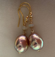 Load image into Gallery viewer, Rainbow AAA Edison Pearls Opal on 14k Gold Filled
