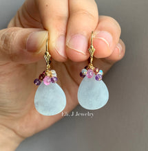 Load image into Gallery viewer, Eli. J Signature: Type A Bluish Lavender Teardrops, Sapphires & Gems 14kGF
