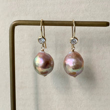 Load image into Gallery viewer, AAA Rainbow Pink Edison Pearls 14kGF Earrings