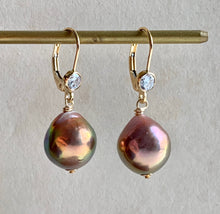 Load image into Gallery viewer, Rainbow Gold Lustre Pearls on 14k Gold Filled