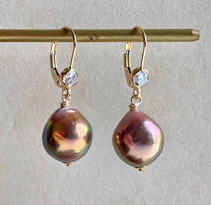 Rainbow Gold Lustre Pearls on 14k Gold Filled