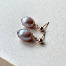 Load image into Gallery viewer, Lavender Freshwater Pearls on 14k RGF