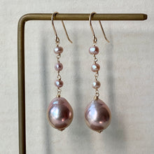 Load image into Gallery viewer, AAA Pink Edison Pearls, Baby Freshwater Pink Pearls 14kRGF Earrings