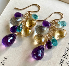 Load image into Gallery viewer, Amethyst & Gems 14k Gold Filled Earrings