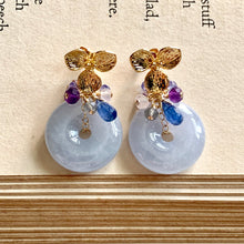 Load image into Gallery viewer, Grade A Lavender Jade Donuts & Blue Purple Gemstone
