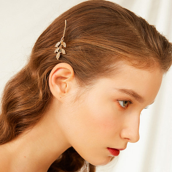 Gold Leaf Hairpin