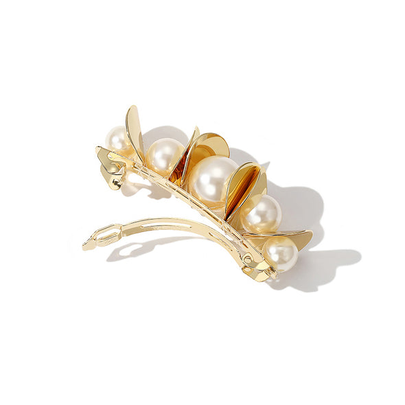Golden Faux Pearl Hairpin
