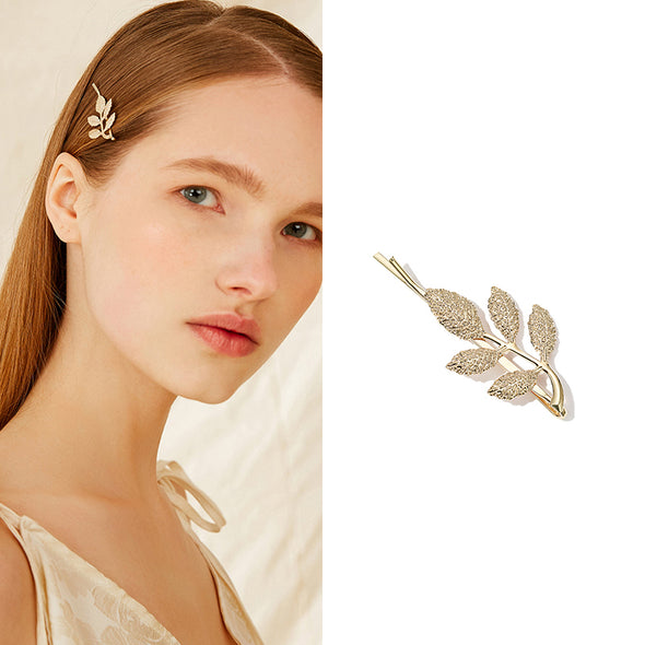 Branch Leaf Gold Hairpin