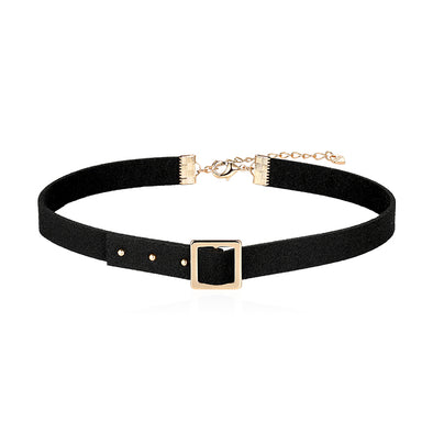Belt Buckle Choker Necklace