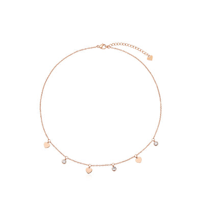 Heart Charm Rose Gold Necklace