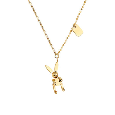 Rabbit Pendant Gold Necklace