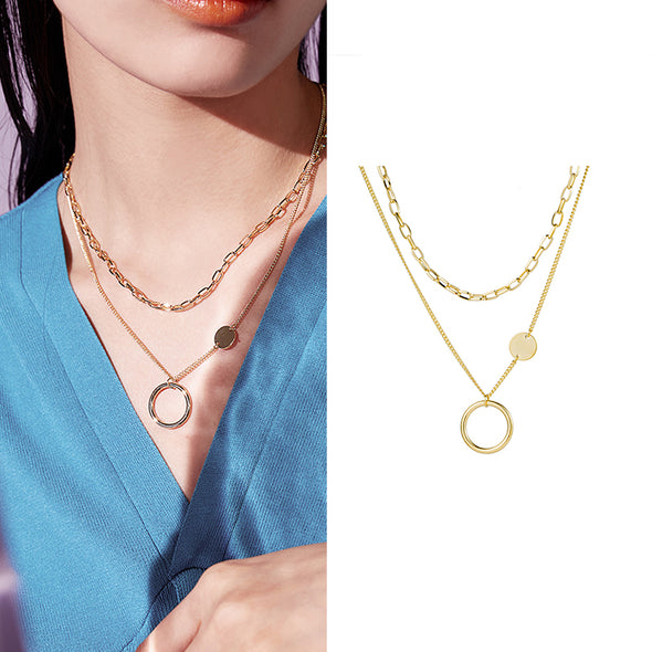Multilayer Link Chain Necklace