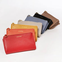Load image into Gallery viewer, LEATHER WALLET WITH SHOULDER STRAP