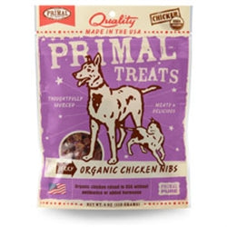Primal Jerky Organic Chicken Nibs Dog & Cat 4oz
