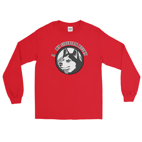 "Men's ""I Love My Siberian Husky"" Long Sleeve T-Shirt"