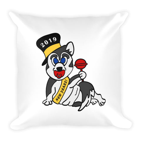 """New Year's Baby Husky"" Pillow"