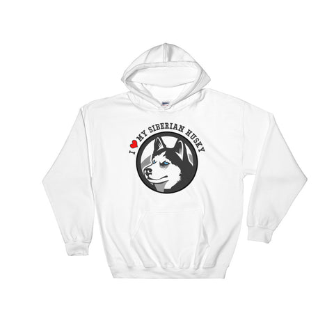 """I Love My Siberian Husky"" Hooded Sweatshirt"