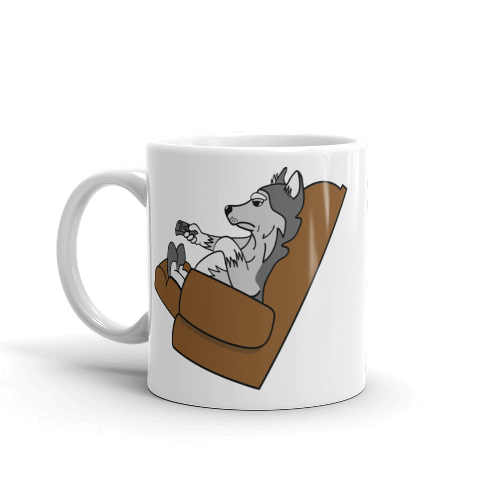 """Lazy Husky"" Coffee Mug"