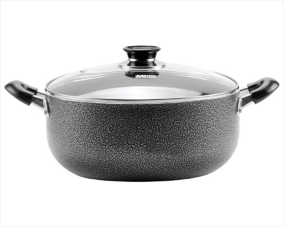 Non-stick Aluminum Sauce Pot Two Handles with Glass Cover 34 CM/13.5