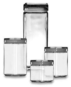 Glass Storage Jar-Square