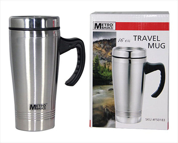 Stainless Steel Insulated Travel Mug 16 OZ.