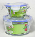 Glass Food Storage Container with Snaplock Lid