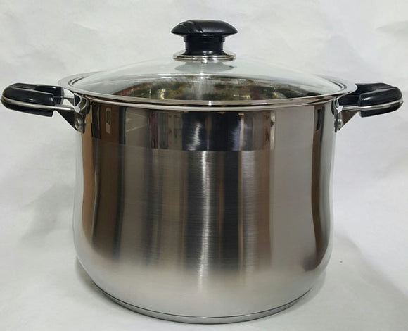 Heavy Duty Stainless Steel Stock Pot Bell Shape