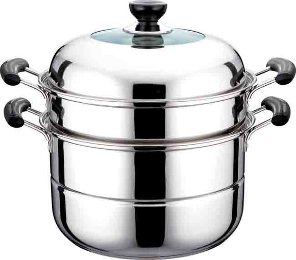 Stainless Steel 2 Layers Steamer with Gift Box