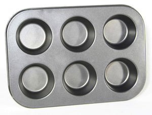 Non-stick Bakeware 6 Cups Muffin Pan