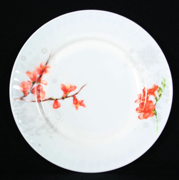 Opal Glass Flat Plate Pattern-Season Fortune