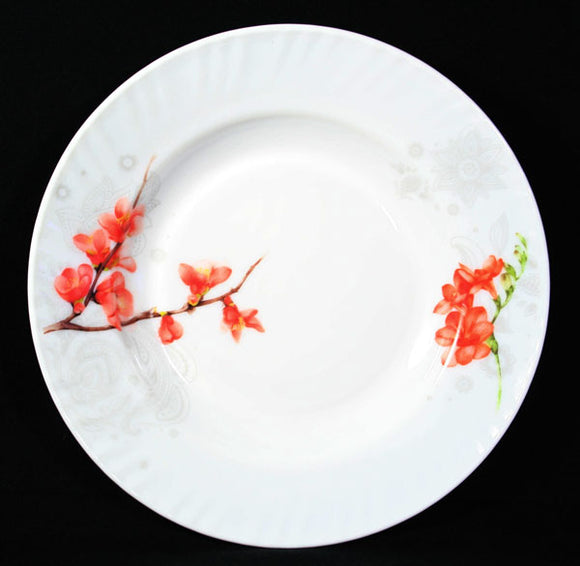 Opal Glass Soup Plate-Season Fortune