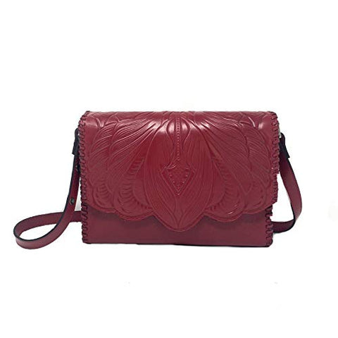 Patricia Nash Santillana Smooth Leather Shoulder Bag, Red
