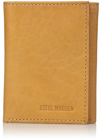 Steve Madden Men's Antique Leather Trifold Wallet