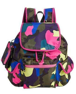 Steve Madden Cardi Multi-color Camo Nylon With Id Case Backpack