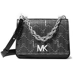 Michael Kors Mott Large Metallic Deco Leather Crossbody
