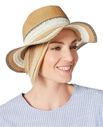 I.N.C. International Concepts Women's Packable Raffia Panama Hat, Natural