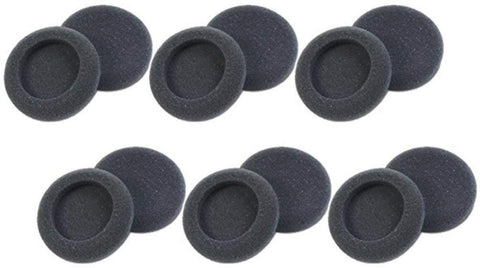 Plantronics 15729-05 Replacement Foam Ear Cushion (6-Pair), Black for use with H51, H51N, H61, H61N, H91, H91N, H101, H101N, SP04, SP05, PLX400 and PLX500 Headsets