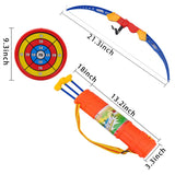 AvimaBasics Kids Archery Bow and Arrow Toy Set with Target Outdoor Garden Fun Game
