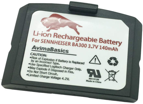 Premium Lithium Polymer Rechargeable Battery Compatible with Sennheiser BA300 Set 900, Set 840, Ri 900 (140mAh, 3.7V)
