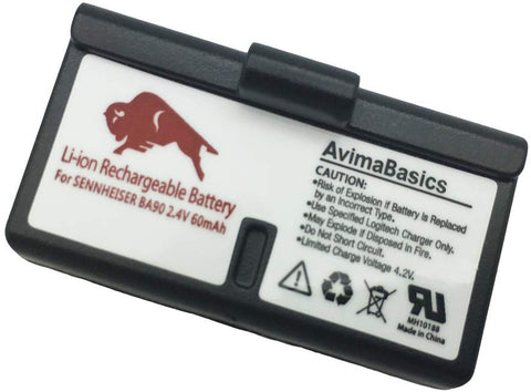 Premium Replacement Battery - AvimaBasics - Compatible with Sennheiser BA90, SET100 Assistive Listening System
