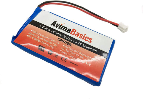 Premium Rechargeable Battery - AvimaBasics - Lithium Ion Battery 3.7v 2000mAh (Not Compatible with PS4 Controller)