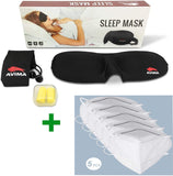 AVIMA Sleep Mask Blindfold, Light Weight Comfortable Soft Adjustable Strap Sleeping Mask - Perfect for Men Women Children - Sleep Quickly Block Sun Light Migraines Relaxation